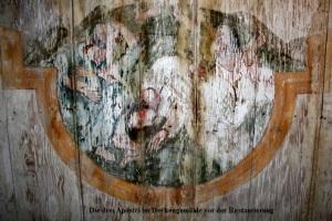 2008 Die drei Apostel vor Restaurierung