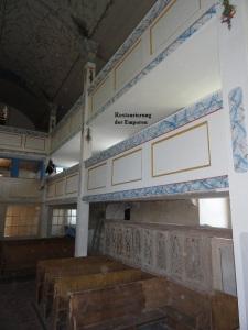 2011 Restaurierung der Emporen