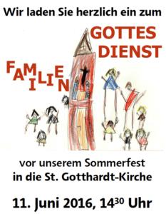 Gottesdienst Sommerfest