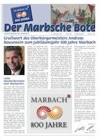 Marbscher Bote 800 Jahre Marbach